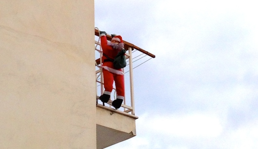 "Here he is known as ""Babbo Natale"" (Father Christmas)"