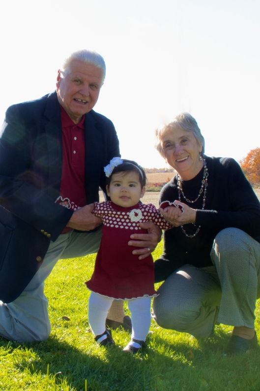 Arianna with her Great-Grandparents