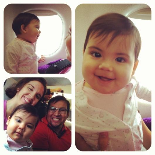 Arianna's 1st Plane Ride
