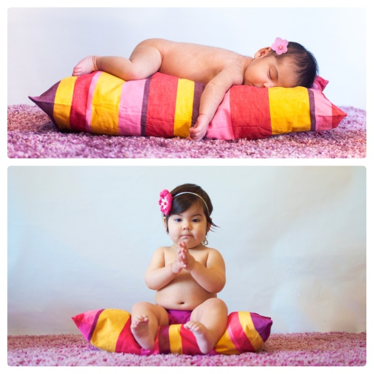 newborn to toddler pillow pic sitting