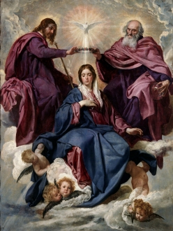 An example of how Mary is depicted in Italian church art.